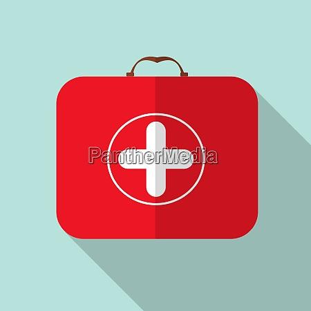 red medical bag mit einem kreuz