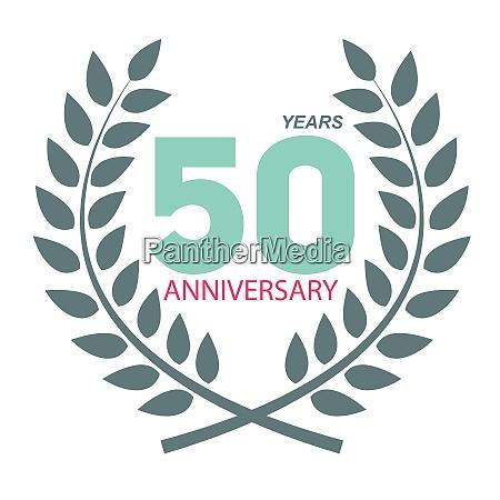 schablone logo 50 jubilaeum in laurel