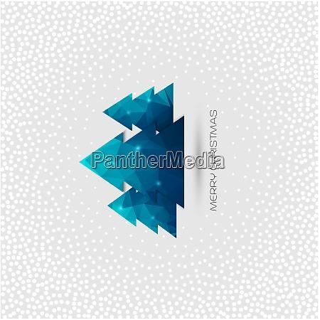 weihnachtsbaum grusskarte weihnachtsbaum grusskarte vektor polygon