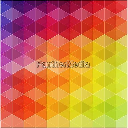 retro pattern of geometric shapes colorful