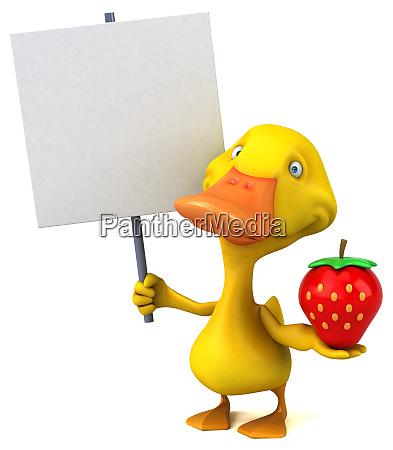 fun red frog 3d illustration