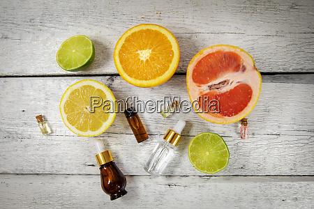 organic citrus essential oils and cosmetics