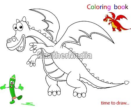 contour of the dragon sketch