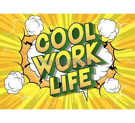cool work life comic book