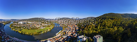 germany bavaria miltenberg river main panoramic