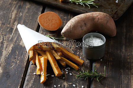 sweet potato fries with rosmary