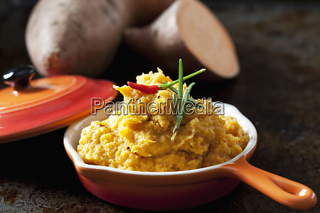 homemade sweet potato mash