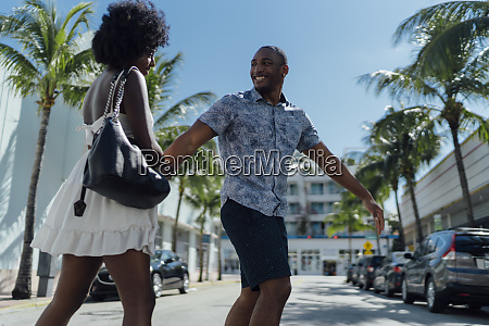 usa florida miami beach happy young