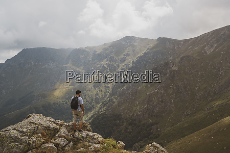 bulgaria balkans hiker on viewpoint