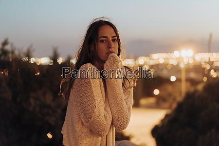 spain barcelona montjuic portrait of young