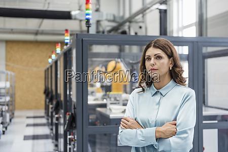 portrait of a businesswoman working in