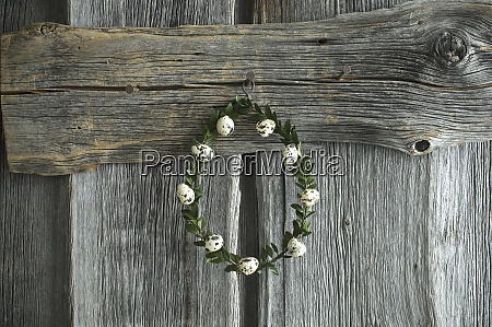 wreath of box tree twigs with