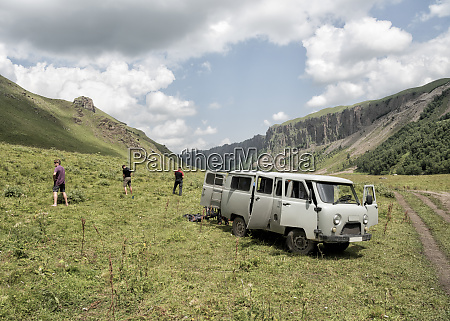 russia, , upper, baksan, valley, , tourists, taking - 26357927