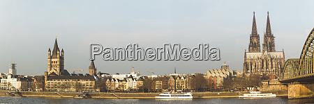 deutschland koeln panoramablick auf die historische