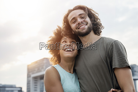 germany cologne portrait of happy couple