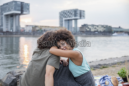 germany cologne couple relaxing at the