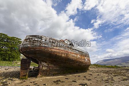uk scotland highland ship wreck at