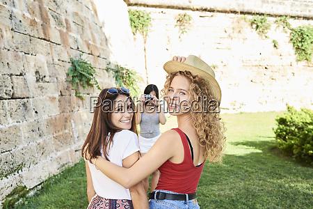 spain mallorca palma two female friends