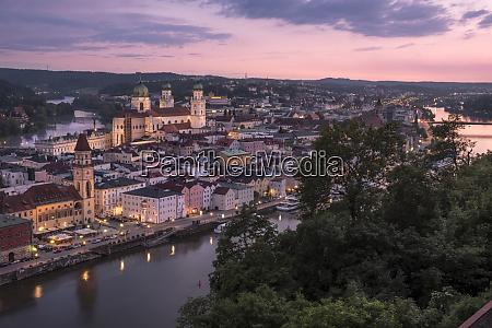 germany bavaria passau city view in