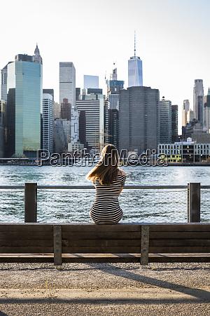 usa new york brooklyn back view
