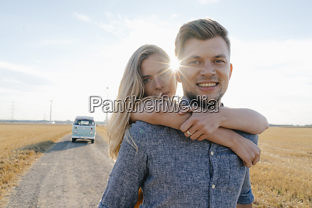 portrait of happy young couple at