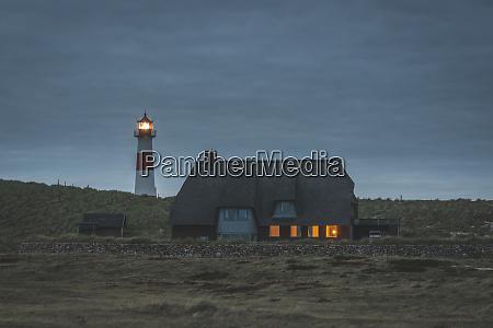germany schleswig holstein sylt ellenbogen lighthouse