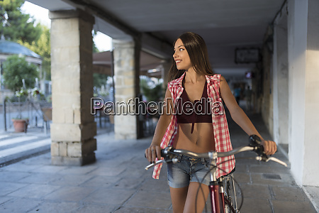 spain baeza smiling young woman with