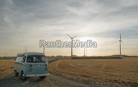couple in camper van in rural