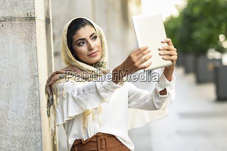 spain granada young muslim woman wearing