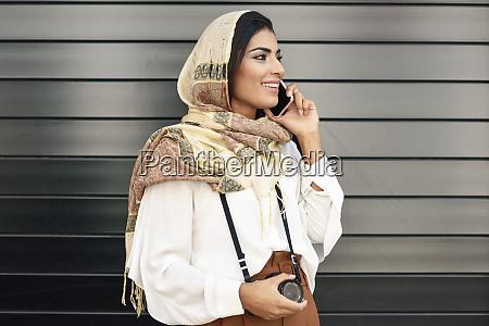 spain granada young arab tourist woman