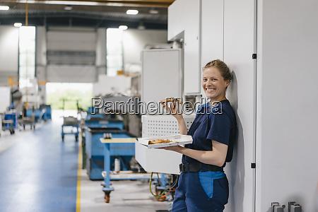 woman working in high tech company