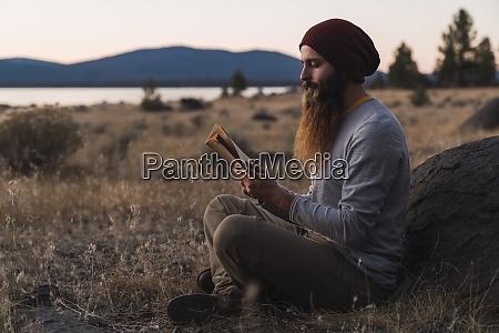usa north california bearded young man