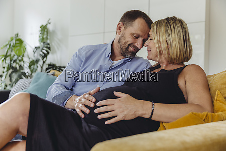 mature man and his pregnant mature