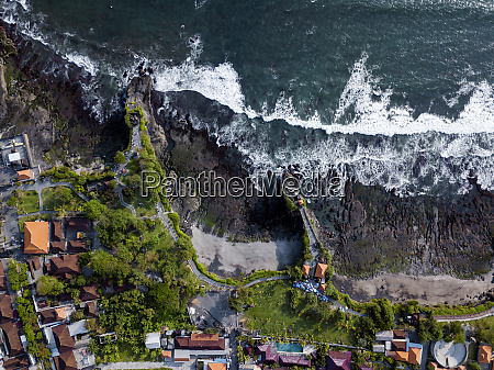 indonesia bali aerial view of tanah