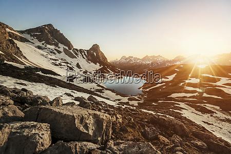 germany allgaeu alps mountain lake in