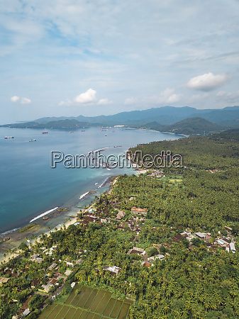 indonesia bali aerial view of candidasa