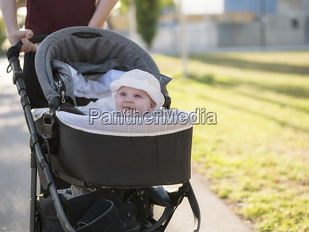 portrait of smiling baby girl in