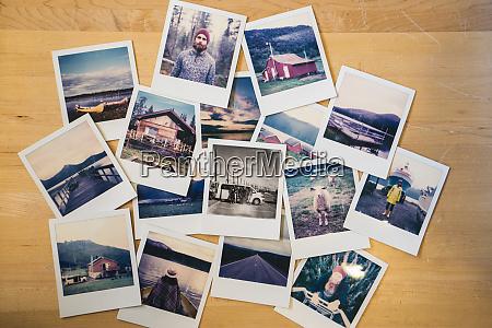 sammlung von reisefotos
