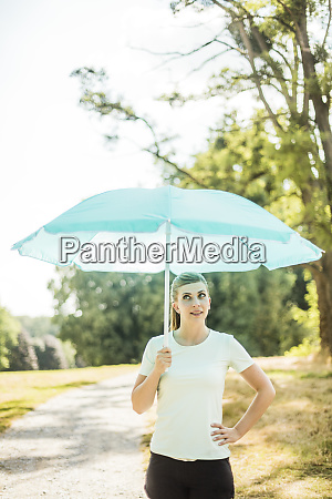 sportive young woman standing in a