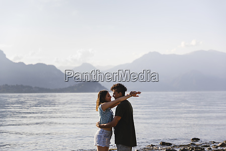 happy affectionate young couple at the