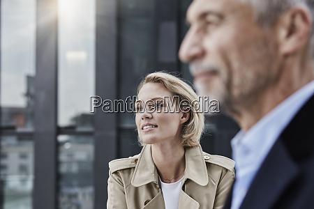 germany duesseldorf portrait of blond businesswoman