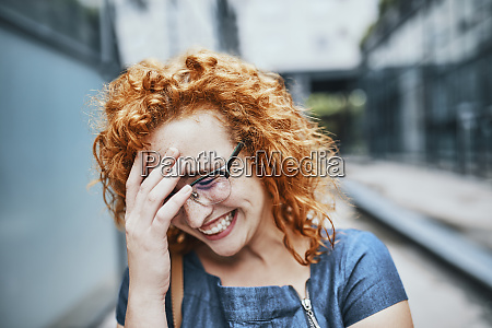 portrait of a young redheaded woman