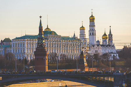 russia moscow kremlin at sunrise