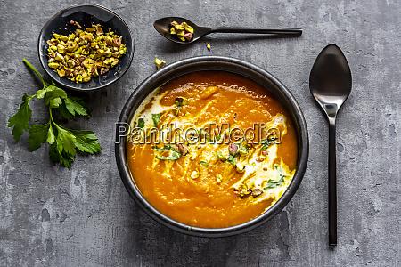 sweet potato soup with curcuma coriander
