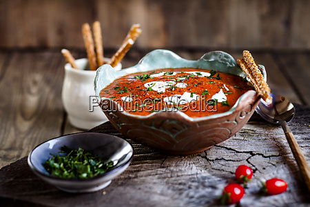 tomato soup with sour cream and