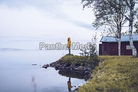 sweden lapland man wearing windbreaker