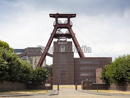 deutschland essen blick auf den industriekomplex