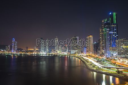 panama panama city skyline at night