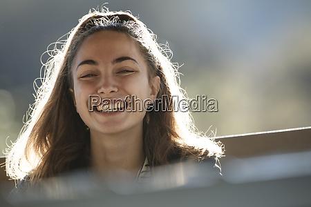 portrait of smiling teenage girl