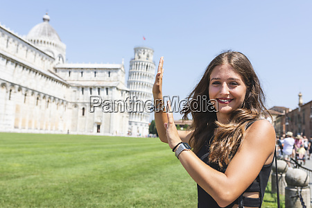 italy pisa portrait of young woman